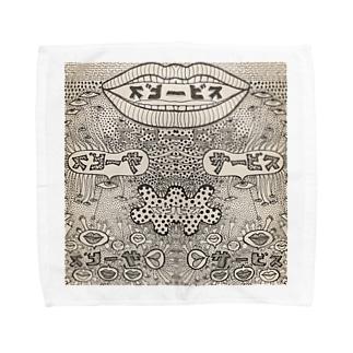 リップサービス1 Towel handkerchiefs