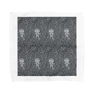 ぐるぐるの闇を彷徨う迷い子 刈り上げさん Towel handkerchiefs