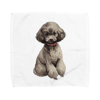 トイプードルさん Towel handkerchiefs