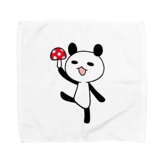 きのこパンダ Towel handkerchiefs