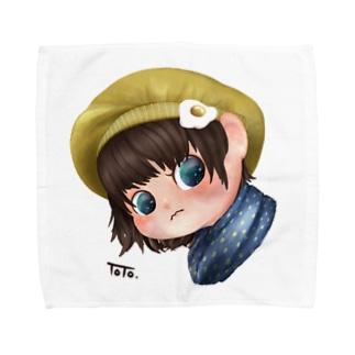 おはようの目玉焼き Towel handkerchiefs