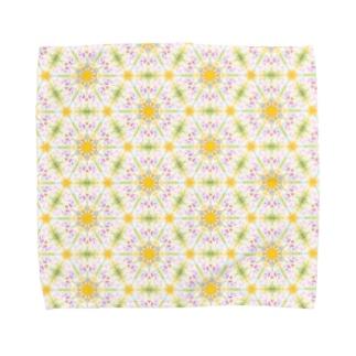 幾何学模様「蒲公英」 Towel handkerchiefs