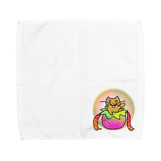 ネコのお届けですにゃ Towel handkerchiefs