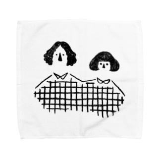 夫婦(black) Towel handkerchiefs