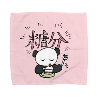 糖分パンダ Towel handkerchiefs