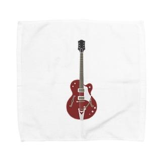 ギター レッド Towel handkerchiefs