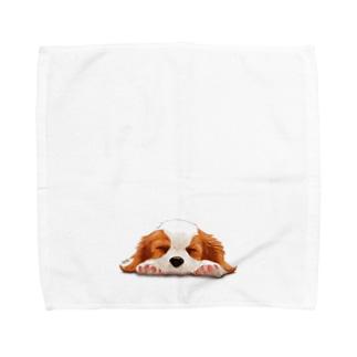 キャバリア№05 ブレンハイムパピー Towel handkerchiefs