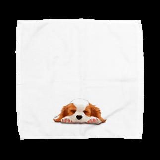 Shimiyasuのキャバリア№05 ブレンハイムパピー Towel handkerchiefs