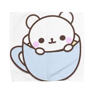 空からみにくま Towel handkerchiefs