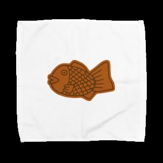 犬田猫三郎のたい焼き Towel handkerchiefs