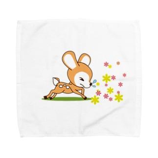 花粉症のバンビ[イラスト大] Towel handkerchiefs