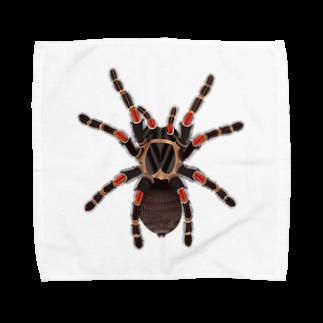 Drecome_Designのいたずらデザイン(ちょっとタランチュラついてますよ) Towel handkerchiefs