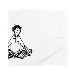 瞑想ボーイ Towel handkerchiefs