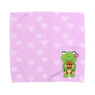 くまさんとかえるさん Towel handkerchiefs
