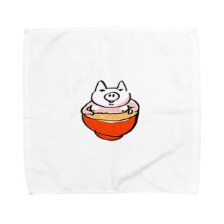 ブタのジル Towel handkerchiefs