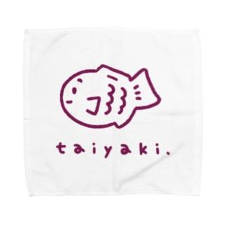 たい焼きグッズ(あずき) Towel handkerchiefs