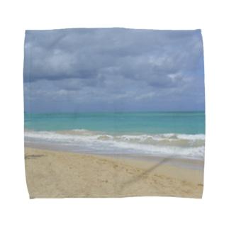 ハワイ・オアフ島 ワイマナロビーチ Towel handkerchiefs