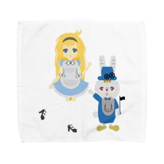 アリス&ホワイトラビット Towel handkerchiefs