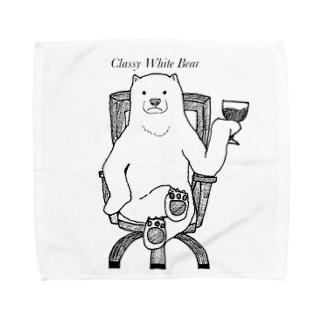 Classy White Bear Towel handkerchiefs