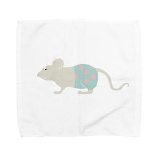 水玉パンツはいてるっチュウの Towel handkerchiefs