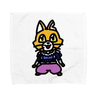 キャットC「棒立ち」 Towel handkerchiefs