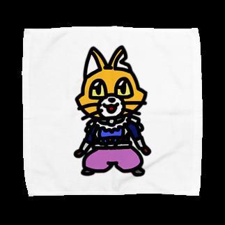 キャットCのこうじょうけんがくのキャットC「棒立ち」 Towel handkerchiefs