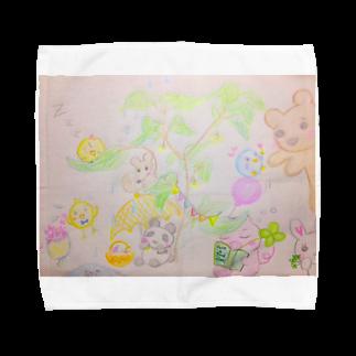 アートショップ molkoraのInochi no ki (kyu-kyunzシリーズ) Towel handkerchiefs