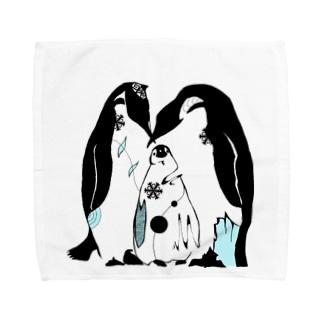 ペンギン親子 Towel handkerchiefs