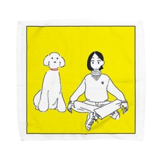 犬派の人 Towel handkerchiefs