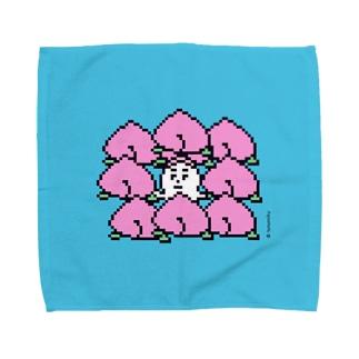 ももからこんにちは。 Towel handkerchiefs