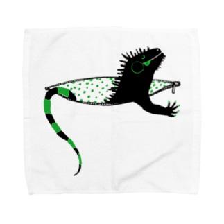 iguana in pocket Towel handkerchiefs