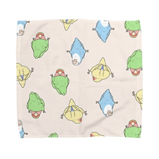 つかまりコザクラインコ Towel handkerchiefs