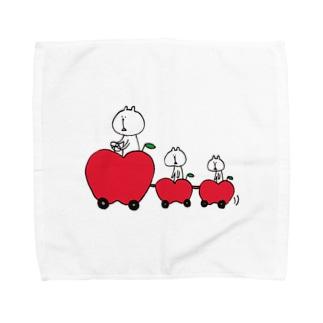 りんごトレイン Towel Handkerchief