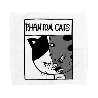 猫又スプリットフィアーフェイス Towel handkerchiefs