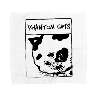 化け猫ドットフィアーフェイス Towel handkerchiefs