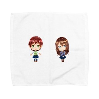 ふたり。 Towel handkerchiefs