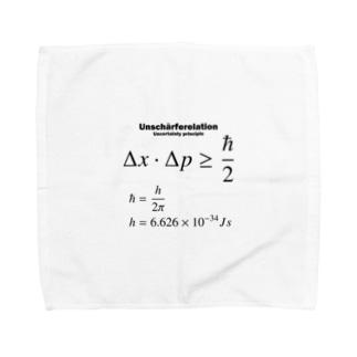 不確定性原理:量子力学:ハイゼンベルク:数式:物理学・科学・数学・学問 Towel handkerchiefs