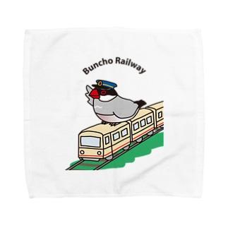 文鳥鉄道・桜文鳥 Towel handkerchiefs