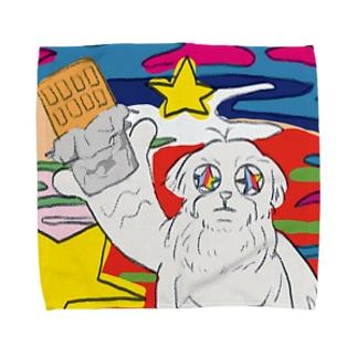キメてる犬 Towel handkerchiefs