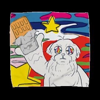 Alima∞Shopのキメてる犬 Towel handkerchiefs