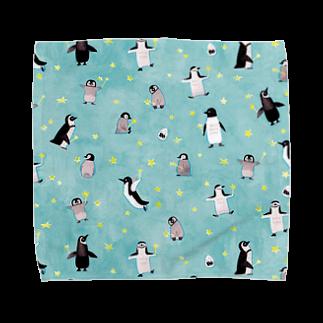 ひしだようこの星ステッキとペンギン Towel handkerchiefs