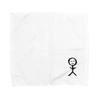 ゆる〜い棒人間くん Towel handkerchiefs
