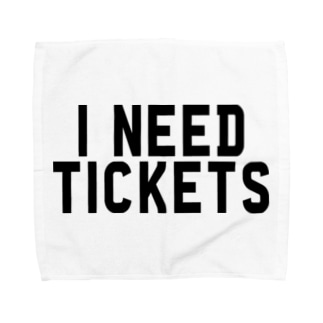 I NEED TICKETS - BLACK LOGO Towel handkerchiefs