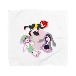 犬猫兎の Towel handkerchiefs