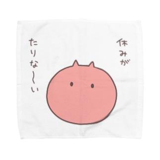 むにむに族*赤 Towel handkerchiefs