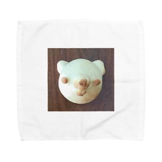くまちゃんクリームパン Towel handkerchiefs