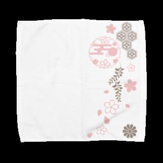 ジャパニーズスタンダードの枝垂れ桜 Towel handkerchiefs