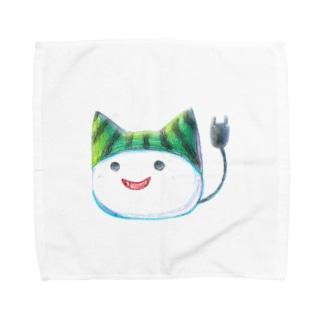 スイカ帽子ねこさん Towel handkerchiefs