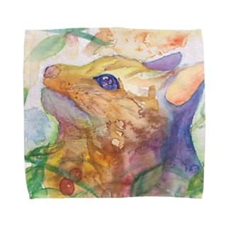 動物横顔シリーズ ヤマネコ Towel handkerchiefs
