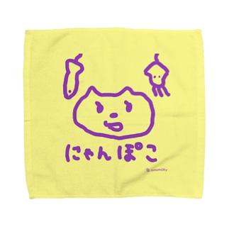 にゃんぽことともだち Towel handkerchiefs